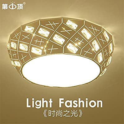 Leihongthebox Ceiling lamp LED the main light crystal iron, no polarity bands to remote bed for children Ceiling lamp for Hall, Study Room, Office, Bedroom, Living Room,760mm