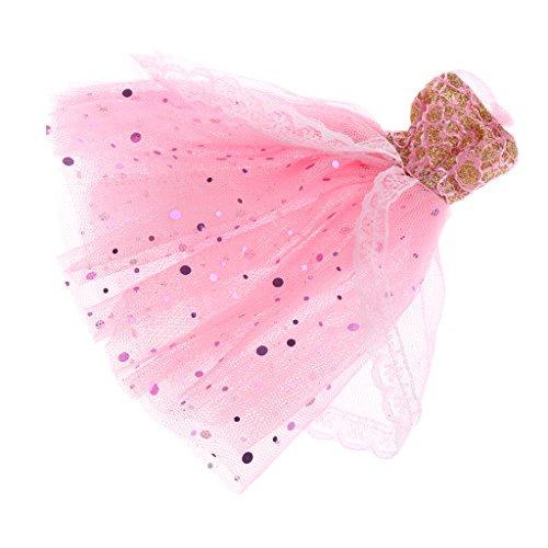 MagiDeal Handgemachte Spitze Prinzessin Ballkleid Brautkleid Hochzeitskleid & Hut für Barbie Puppe...
