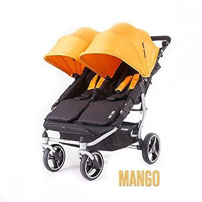 Baby Monsters- Silla Gemelar Easy Twin 3.0.S (Silver) - Color Mango + REGALO de un bolso de polipiel (capota normal) Danielstore