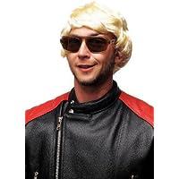 WIG ME UP ® - 3296-ZA615 Carnaval Halloween Perruque blonde claire pour homme chanteur sexy