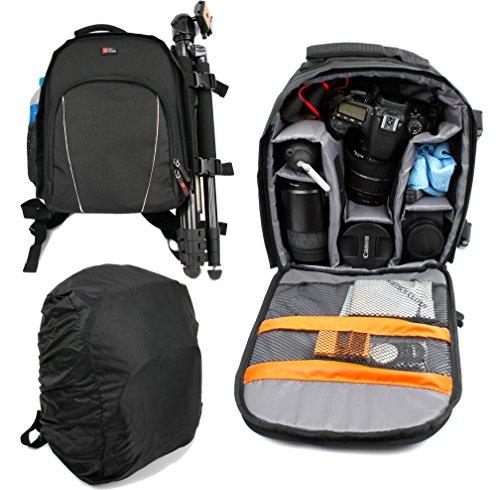 DURAGADGET Mochila Para Cámaras DSLR / SLR Canon | Nikon | Sony | Olympus + Funda Impermeable...