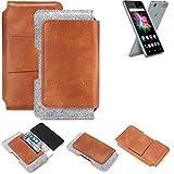 K-S-Trade Gürteltasche für Allview X3 Soul Mini Gürtel Tasche Schutz Hülle Hüfttasche Belt Case Schutzhülle Handy Hülle Smartphone Sleeve aus Filz + Kunstleder (1 St.)