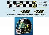 1/12 Rossi 2008 8 Times Helmet Test 2008 Decals TB Decal TBD3