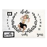 Amorar Neugeborenes Fotografie Wrap, DIY Neugeborene Fotografie Requisiten Decke, Baby Requisiten Gedruckt Baumwolle monatliche Meilenstein Wrap Swaddle Decken,Lange Wellen Wrap