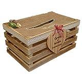 GBA Tirelire/urne pour Mariage champêtre : la cagette en Bois
