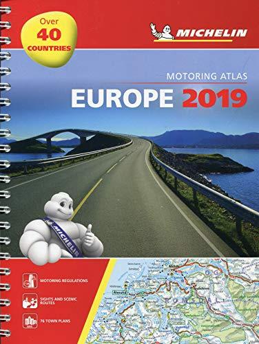 Europe 2019 - Tourist and Motoring Atlas (A4-Spirale): Tourist & Motoring Atlas A4 spiral (Michelin Road Atlases) (Karten, Atlanten,)