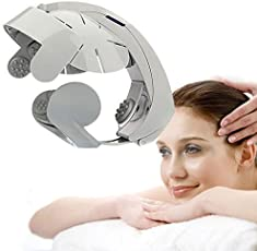 Inglis Lady Natural Electric Head Massage & Relax Brain Acupuncture Points Stress Release Easy-Brain Massager Machine Vibration Massage Relax Brain Ac