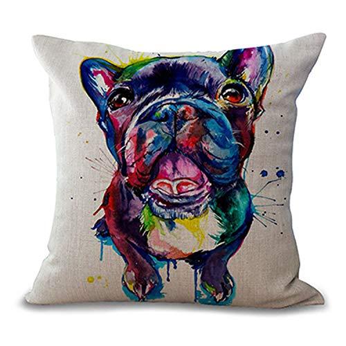 Penveat Quadratisch 45 7 Cm Franzosische Bulldogge Bedruckt Dekorativer Sofauberwurf Kissen Kissen Pets Hunde Outdoor Living Room Decor 1