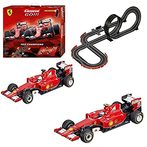 Carrera Go. – Red Champions, Ferrari Packaging, 2 X Ferrari sf15-t, 5.3 m (20062394)