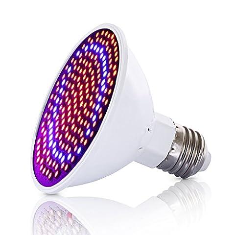 Pathonor Lampe de Plante Lumières pour Croissance des Plantules Ampoule E27 LED 200 ( Rouge 166, Bleu 34 ), Eclairage pour petit Jardin Serre et Laboratoire