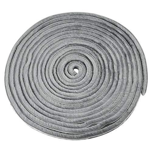 Cizen Bürstendichtung - 10 m Bürstendichtung Selbstklebend Gegen Lärm Mücken und Staub Geeignet für Tür und Fensterspalte, Grau