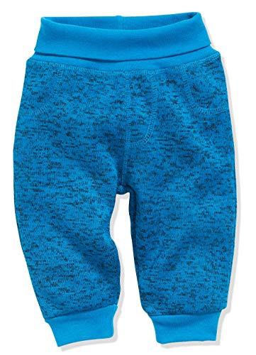 Schnizler Unisex Baby Pumphose Strickfleece mit Strickbund Jogginghose, Blau (Blau 7), 86