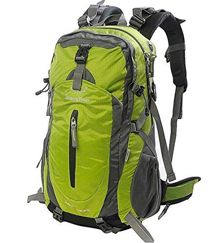 Sacchetti esterni di alpinismo 40L uomini borsa da viaggio zaino e le donne che guidano borsa con parapioggia ( Colore : Arancia , dimensioni : 40L ) Verde