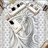 Wandbild Europäischen Stil 3D Geprägte Skulptur Bodenfliese Wohnzimmer Schlafzimmer Hotel Pvc Selbstklebende Wasserdichte Boden Wandbild Tapete 3 D-350X250CM