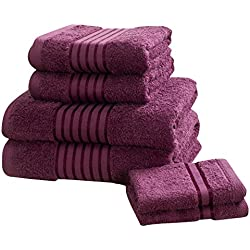 Rapport Windsor–Juego de toallas (M2), 100% algodón–Color Morado