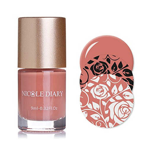 NICOLE DIARY 9 ml Nail Art Stempellack Frühling Serie für Maniküre Druck Nail art Lack Nagellack Polnischen Dekoration (NDS01)