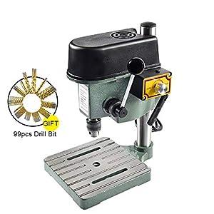 CGOLDENWALL100W Mini-Bohrmaschine, tragbar, 3 Geschwindigkeiten, 31 x 25 x 21 cm, 25 mm Bohrstrom, inkl. 1 Satz gratis…