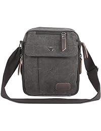 Anladia - 1 de 3 Colores Casual Bolso de Lona Bolso de Estilo Mensajero con Bandolera 130cm para Hombre Messenger Bag