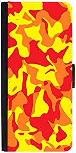 Snoogg Camouflage Red 2762 Designer Protective Phone Flip Case Cover For One Plus X