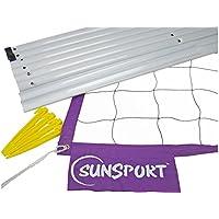 Sunsport Kit - Juego de postes para voleibol (playa), color Blanco/Purpura