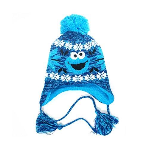 Sesamstraße Cookie Monster Beanie blau