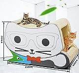 CutePet Cat Scratcher Cardboard Toy Glasses Stereo Cat Scratches Cat House Bed Jumbo Cat Scratcher Lounge Interactive Cat Game 650x350x400mm MT-047