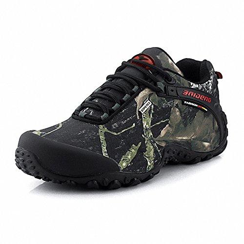 Ben Sports Hommes Camouflage anti-dérapant durables Chaussures de randonnée Camouflage de la forêt