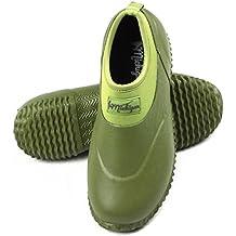 Michigan Green Neoprene Garden Muck Boots Slip On Waterproof Outdoor Shoe, Sizes UK 3 - 13