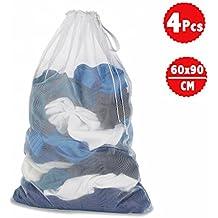 DoGeek Wäschenetz Für Waschmaschine Wäschesack Wäschebeutel für Dessous, Socken, Strumpfhosen, Strümpfe und Baby Kleidung (Größe: 60 x 90 cm für 5 kg Wäsche 4 Stück)