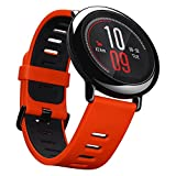 Xiaomi Huami Amazfit, Smartwatch per fitness, rosso, con cardiofrequenzimetro, Bluetooth 4.0per iPhone iOS e Android
