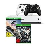 Xbox One S 500GB Konsole - Forza Horizon 3 Bundle + Gears of War 4 + Xbox Wireless Controller (schwarz)