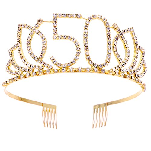 iara, Strass 50. Geburtstag Kronen Happy 50th Birthday (Gold) ()