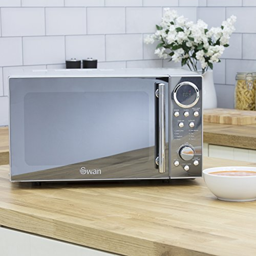 51usvhHPI7L. SS500  - Swan SM3080N Digital Solo Microwave with 10 Power Levels, 800 Watt, 20 Litre, Silver