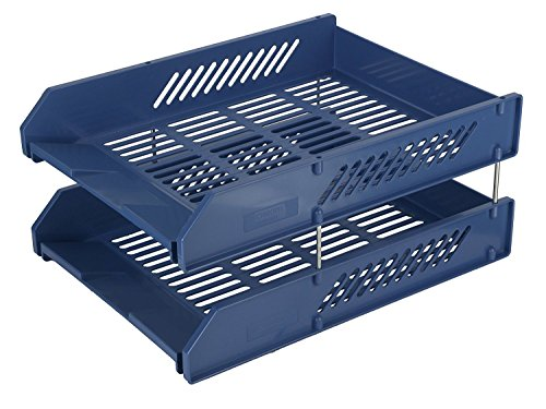 Chrome 2 Tier Plastic Document Tray
