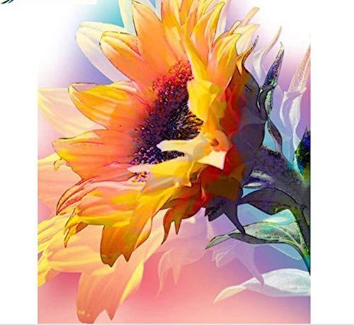 ZSCY 5D DIY Diamant Malerei Sonnenblumen Platz Bild Von Strass Diamant Stickerei Handgemachte Halloween Dekoration 40X55 cm Rahmenlose
