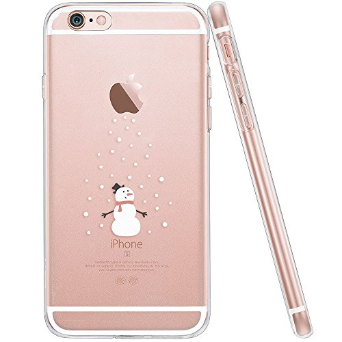 iPhone 6s Case, iPhone 6 Case, Walmark Soft Gel TPU Silicone Case Clear with Design Cute Cartoon Slim Fit Ultra Thin Protective Cover for 4.7 inches iPhone 6 /iPhone 6s _Mr.Snowman