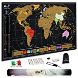 TooPopz Mappa del Mondo da Grattare MuP 84x44 cm - Design Italiano Grande Cartina Geografica Panoramica - Regalo Viaggiatori Poster Mappamondo Planisfero A Graffio - Arredo Parete Scratch World Map