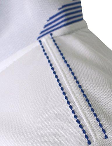 BCPOLO Männer Poloshirt Dri-Fit Short Sleeve Athletisch Polo-Shirt White