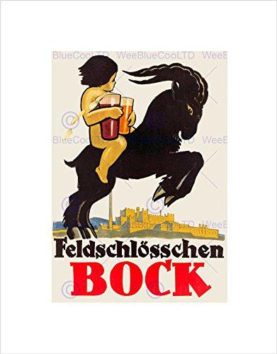 advert-feldschlosschen-bock-beer-swiss-goat-kid-framed-art-print-mount-b12x3132