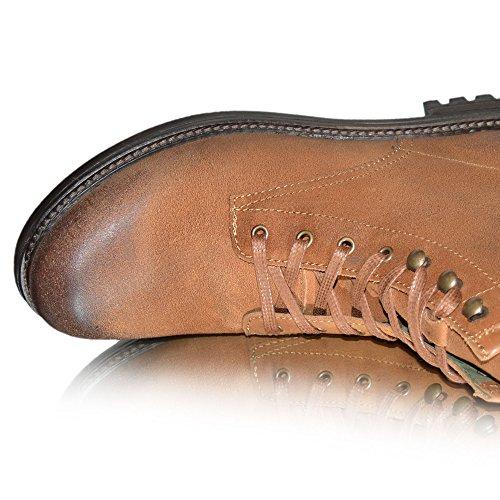 Xelay Herren Militär Armee Knöchel Ohne Bügel Reißverschluss Cowboy Biker Boots 6 - 12 Greasy Suede Tan