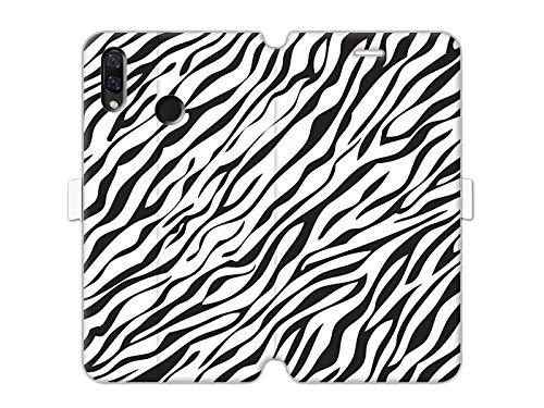 etuo Huawei Nova 3 - Hülle Wallet Book Fantastic - Zebramuster - Handyhülle Schutzhülle Etui Case Cover Tasche für Handy