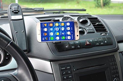 LEDELI CD Schacht KFZ Auto Tablet PC Halterung Handy Smartphone Magnethalterung Autohalterung für Armaturenbrett Kopfstützenhalterung (NFC für Lüftungsgitter)