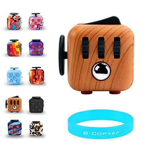 appeln Spielzeug Anti helfen mit Konzentrieren und laviert Stress Druckentlastung Relax Zwölfeck Gadget für Kinder und Erwachsene, Wood Grain (Hot Dog Halloween Finger)