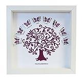 Our Grandchildren Box-Rahmen, Personalisierbar, Schmetterlinge und Baum - Papierschnitt