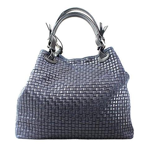 Chicca Borse 80047, Sacs bandoulière femme, Blu, 34x29x18 cm (W x H L)