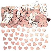 Amscan International Rose Gold Amscan 9903474 Party Confetti Embossed/Printed 14g Heart