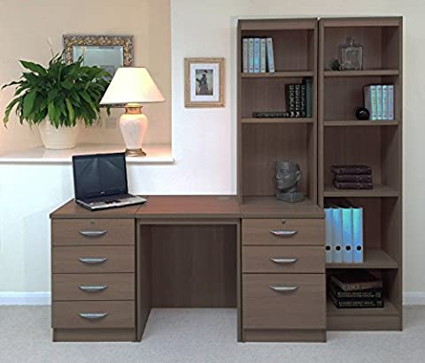 SET-15-IN-TK Teak Desk With Hutch Shelves Tall Narrow Bookcase Ideas Home Office Furniture UK Bookshelf For Kids Living Rooms Cupboard In Bedroom Doors Sets Collections