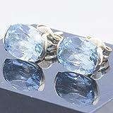 Pendientes Topacio azul y Oro de 18 kilates - Pendientes de piedras preciosas