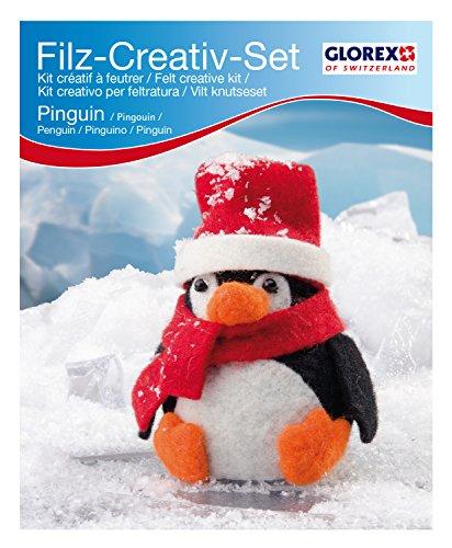 Glorex GmbH 6 2902 606 – Filz-Creativ-Set Pinguin 7,5x15cm