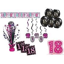 Suchergebnis Auf Amazon De Fur 18 Geburtstag Deko Pink Partydeko